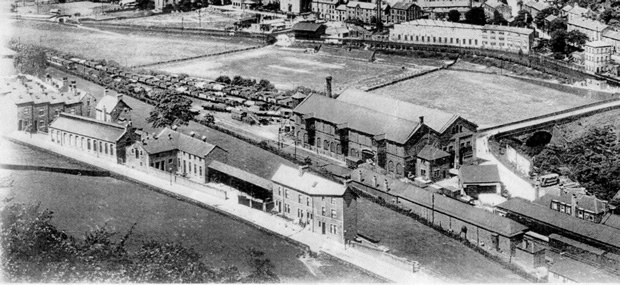HB station from the hillside 1900